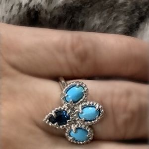 Sterling Silver Turquoise Blue Topaz Ring